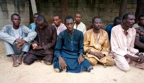 Ex-Boko Haram fighters in Nigeria