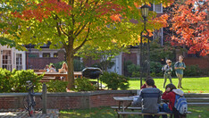 Campus on a sunny fall day